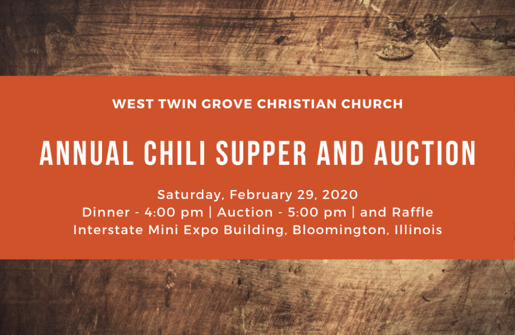 Annual Chili Supper and Auction